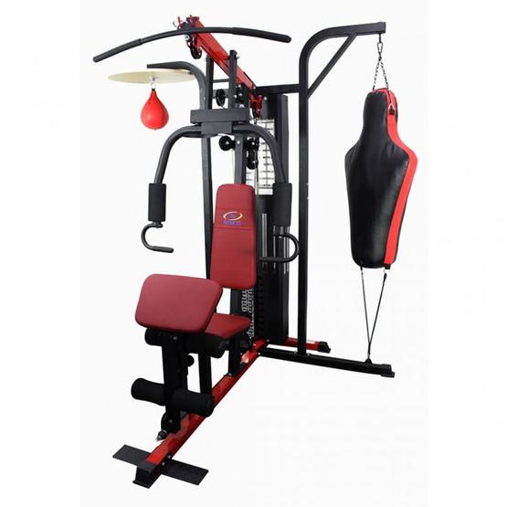 360 FITNESS อุปกรณ์ฝึกกล้ามเนื้อ 3 สถานี มาพร้อมกับสถานียิมคู่มวย Multi Gym with Boxing Station รุ่น TO-178B