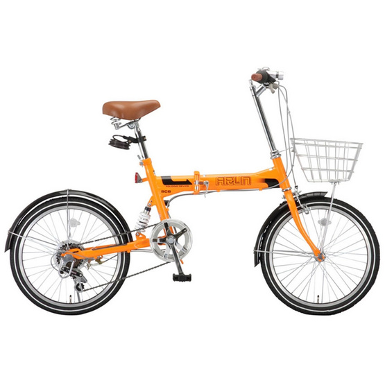 ARUN จักรยานพับได้ นำเข้าจากญี่ปุ่น รุ่น MSB 206 AS (สีส้ม)