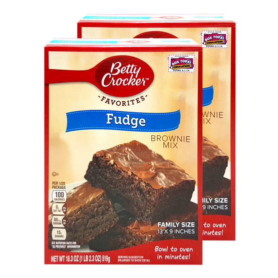 BETTY CROCKER BROWNIES FAMILY FUDGE 519g.  [2 ชิ้น]