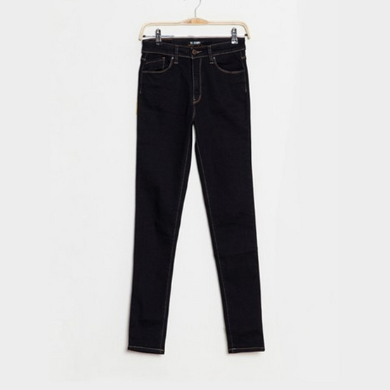 BJ Jeans กางเกงยีนส์ Duochrome-stitch Solid High-waisted Skinny