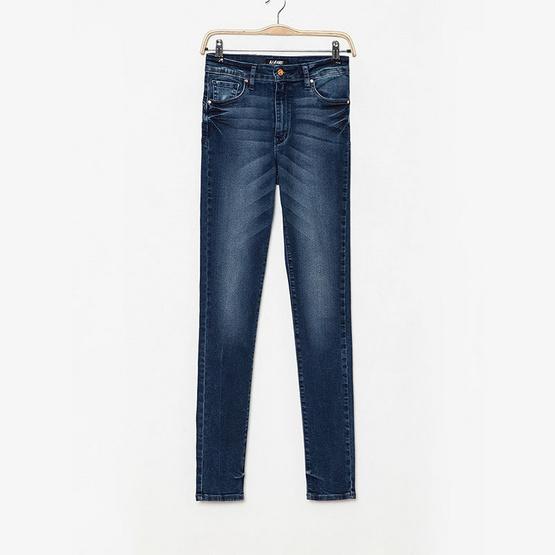 BJ Jeans กางเกงยีนส์ Fishbone Whiskered High-rise Skinny