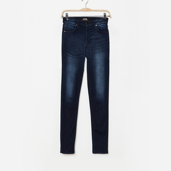 BJ Jeans กางเกงยีนส์ Washed Whiskers High-rise Skinny