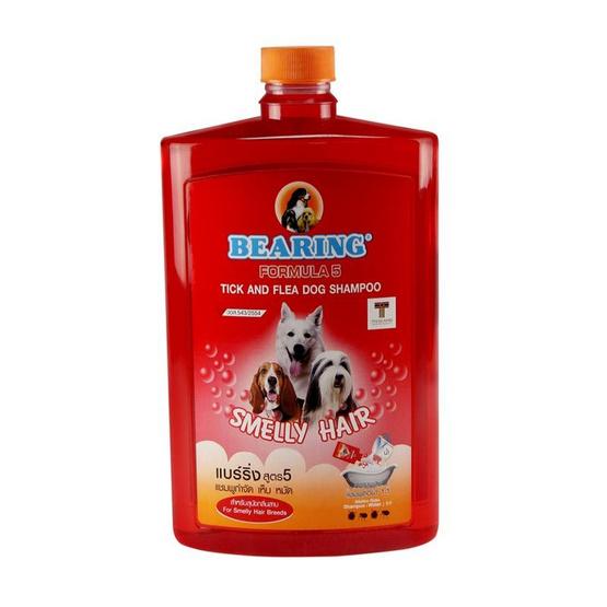Bearing แชมพูฟองสูตร smelly hair 1500มล. (แดง)