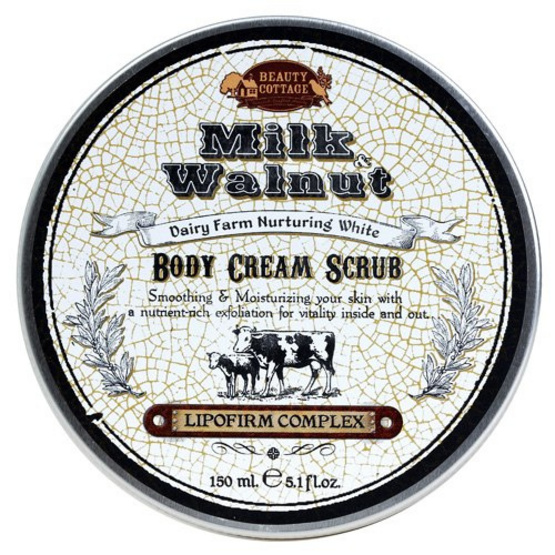 Beauty Cottage Milk & WalNut Dairy Farm Nurturing White Body Cream scrub 150 ml
