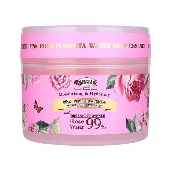 Pantip !! Beauty cottage pink rose placenta water drop essence 240 ml. - Beauty cottage, ผลิตภัณฑ์ความงาม