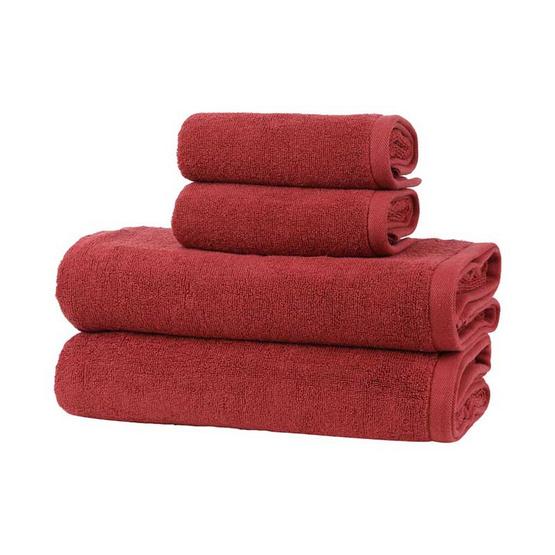 Behome ชุดผ้าขนหนูรุ่นคลาสสิค สีแดง (Brick Red) image