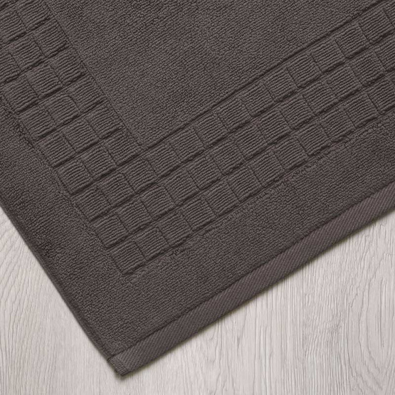 Behome ผ้าเช็ดเท้าลาย Cube สีน้ำตาล (Chocolate)