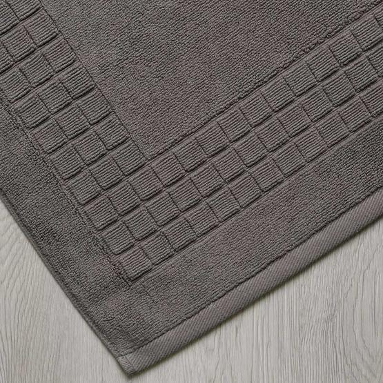Behome ผ้าเช็ดเท้าลาย Cube สีเทา (Stone)