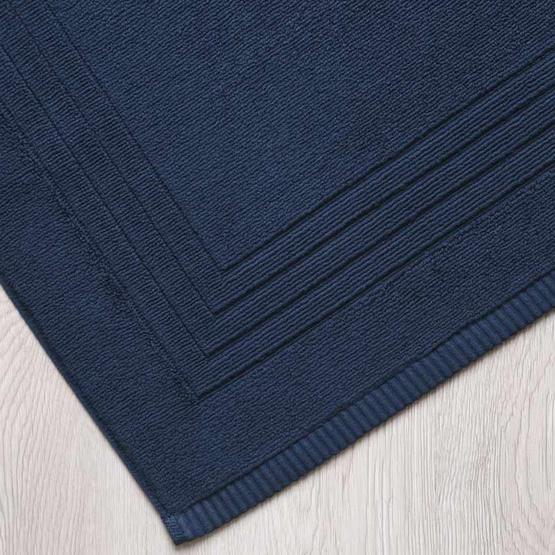 Behome ผ้าเช็ดเท้าลาย Frame  สีน้ำเงิน (Midnight Blue)