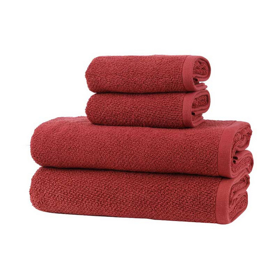 Behome ชุดผ้าขนหนูรุ่นคลาสสิค JQ สีแดง (Brick Red) image