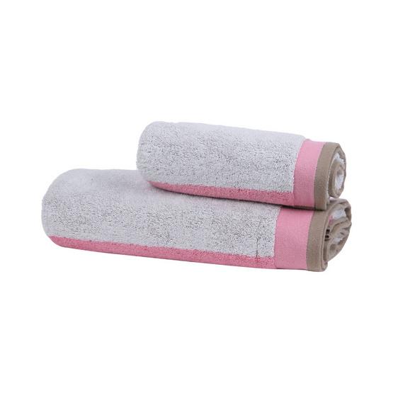 Behome ชุดผ้าขนหนูรุ่น Mirror สีชมพู (Pink&Lime)
