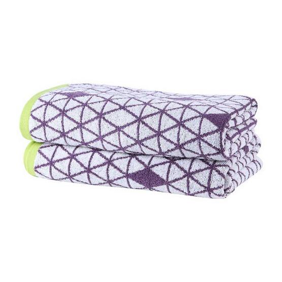 Behome ผ้าขนหนูรุ่น Pyramid สีม่วง (Purple)