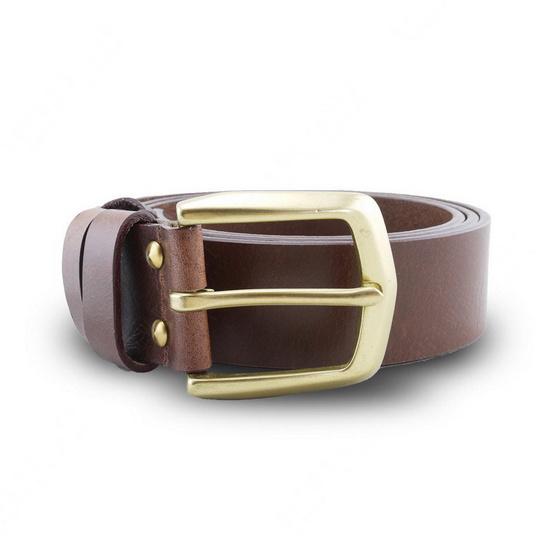Brown Stone เข็มขัดหนังแท้รุ่น  Milano Tan Belt Solid Brass Arrow Buckle