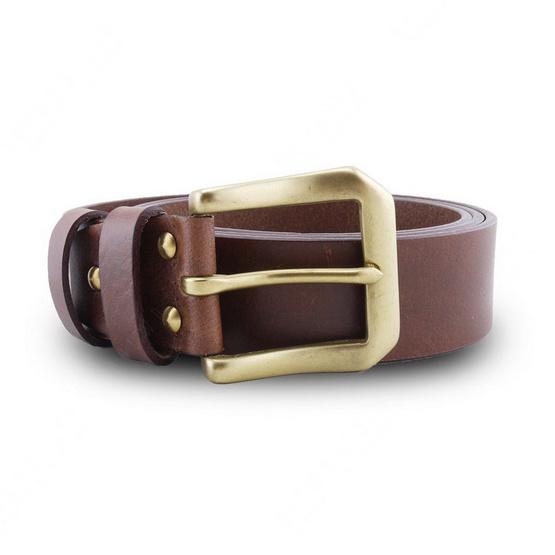Brown Stone เข็มขัดหนังแท้รุ่น  Milano Tan Belt Solid Brass PAM Buckle
