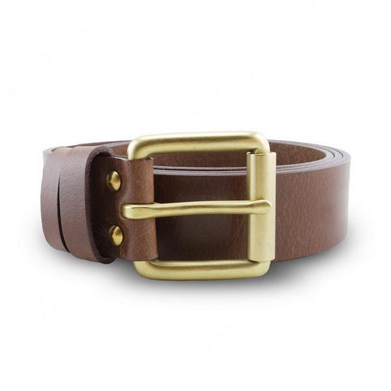 Brown Stone เข็มขัดหนังแท้รุ่น  Milano Tan Belt Solid Brass Roller Buckle