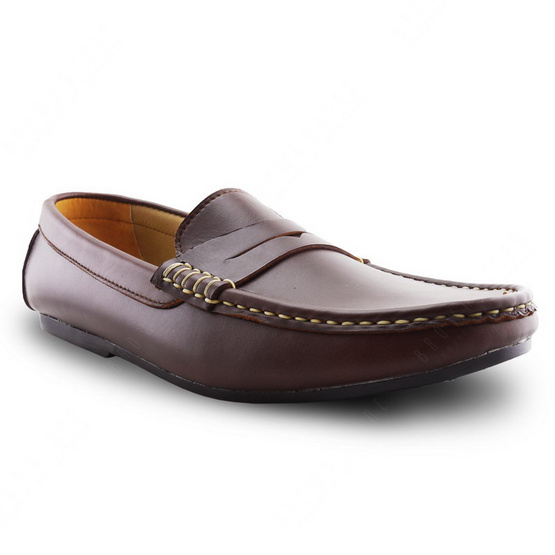 Brown Stone รองเท้าหนังแท้ Penny Leather Loafer Classy Oil Tanned สี Brandy Brown