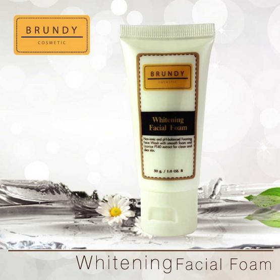 ส่งฟรี !! Brundy Whitening Facial Foam 30g. - Brundy, ผลิตภัณฑ์ความงาม