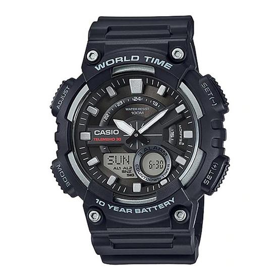 CASIO นาฬิกาข้อมือ 10Year Battery รุ่น AEQ-110W-1AVDF