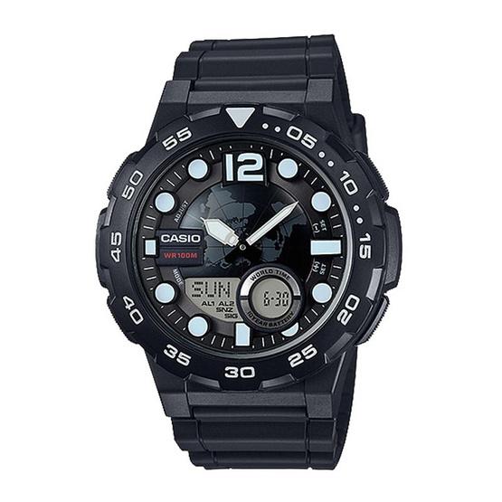 CASIO นาฬิกาข้อมือ รุ่น AEQ-100W-1AVDF