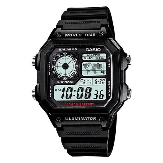 CASIO นาฬิกาข้อมือ รุ่น AE-1200WH-1A
