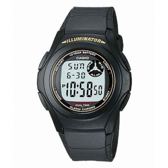 CASIO นาฬิกาข้อมือ รุ่น F200W-9ADF อายุแบตเตอรี่ 10 ปี