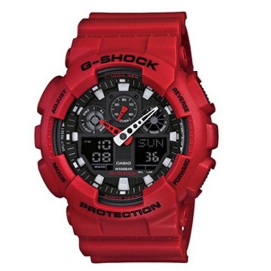 CASIO G-SHOCK นาฬิกาข้อมือ Analog-Digital ร่น GA-100B-4ADR