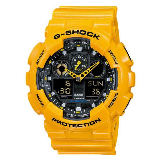 CASIO G-SHOCK นาฬิกาข้อมือ รุ่น GA-100A-9ADR