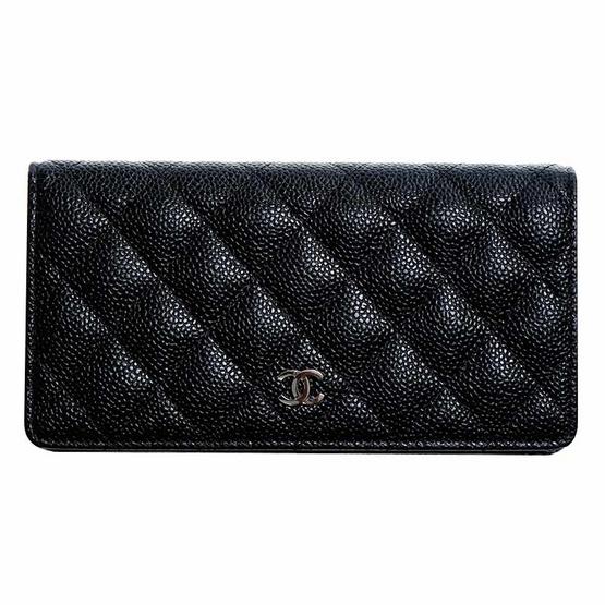 ซื้อ CHANEL กระเป๋าสตางค์ BI FOLD WALLET BLACK CAVIAR SHW