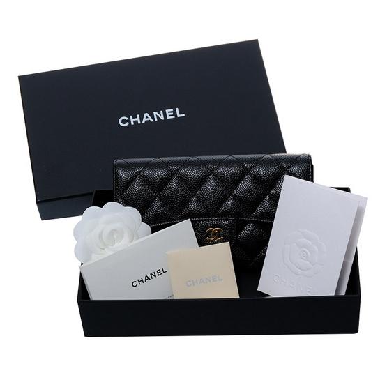 ซื้อ CHANEL กระเป๋าสตางค์ TRI FOLD WALLET BLACK CAVIAR
