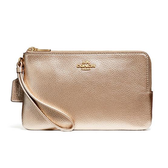 COACH กระเป๋าคล้องมือสองซิป F20146 Double Zip Wallet #IMLH4