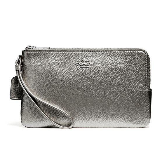 COACH กระเป๋าคล้องมือสองซิป F20146 Double Zip Wallet #SVGM