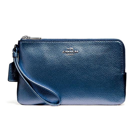 COACH กระเป๋าคล้องมือสองซิป F20146 Double Zip Wallet #SVLBI