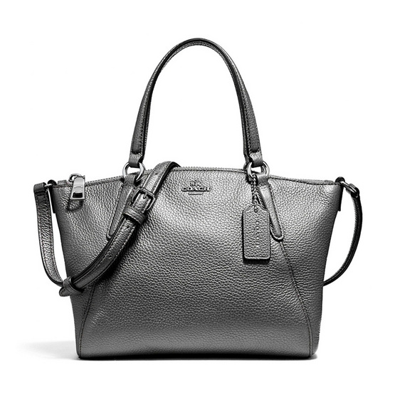 COACH กระเป๋าสะพาย F22316 Mini Kelsey Satchel in Metallic Pebble Leather