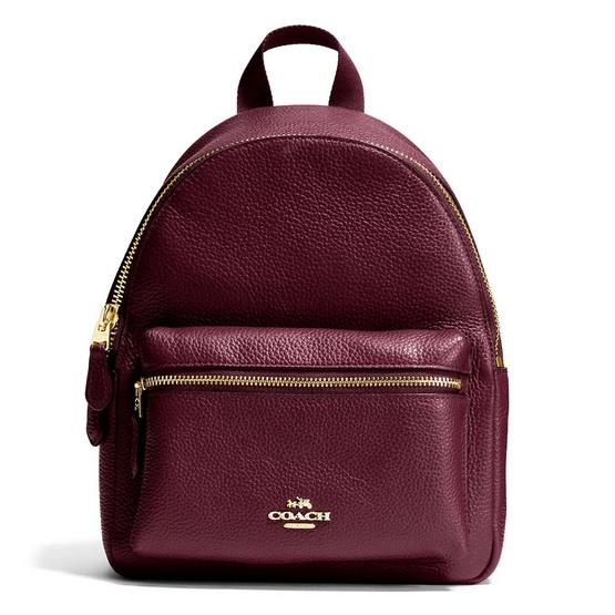 COACH กระเป๋าเป้ F38263 Mini Charlie Backpack in Pebble Leather