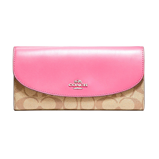 COACH กระเป๋าสตางค์ F54022 Slim Envelope Wallet in Siganature