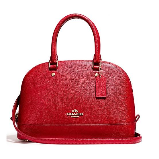 COACH กระเป๋าถือ F57555 Mini Sierra Satchel in Crossgrain Leather