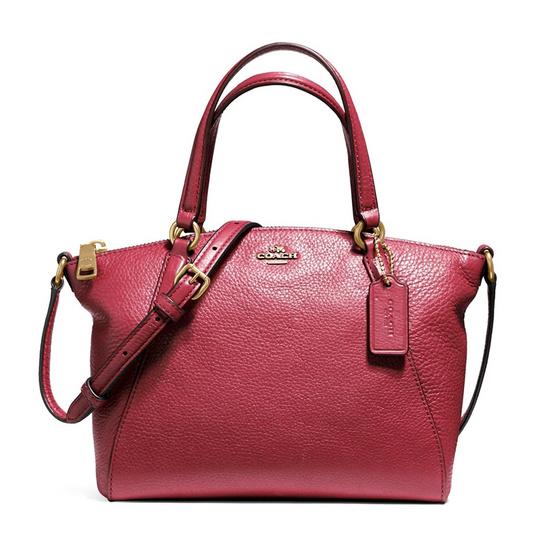 COACH กระเป๋าสะพาย F57563 Mini Kelsey Satchel in Pebble Leather