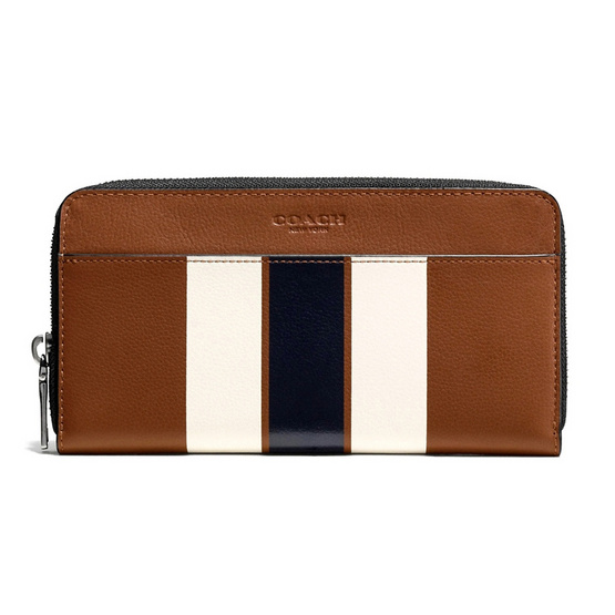 COACH กระเป๋าสตางค์ F58109 Accordion Wallet in Varsity Leather