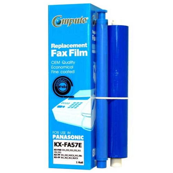 COMPUTE ฟิล์มแฟกซ์ FAX FILM for Panasonic KA-FA 57E Pack 2 ม้วน (กล่องละ 1 ม้วน X 2กล่อง)