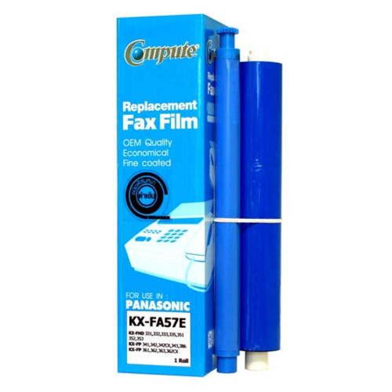 COMPUTE ฟิล์มแฟกซ์ Fax Film Panasonic KA-FA57E Pack 2 ม้วน (กล่องละ 1 ม้วน x 2 กล่อง)