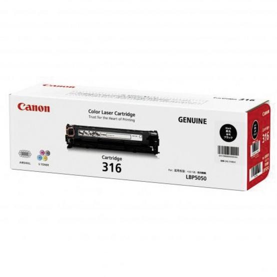 Canon ตลับหมึกโทนเนอร์ รุ่น Cartridge 316 BK สำหรับเครื่องพิมพ์รุ่น LBP5050/5050N
