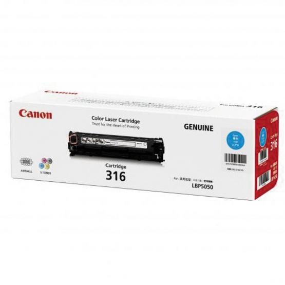 Canon ตลับหมึกโทนเนอร์ รุ่น Cartridge 316 C สำหรับเครื่องพิมพ์รุ่น LBP5050/5050N