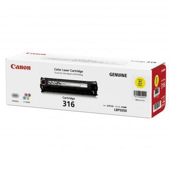 Canon ตลับหมึกโทนเนอร์ รุ่น Cartridge 316 Y สำหรับเครื่องพิมพ์รุ่น LBP5050/5050N