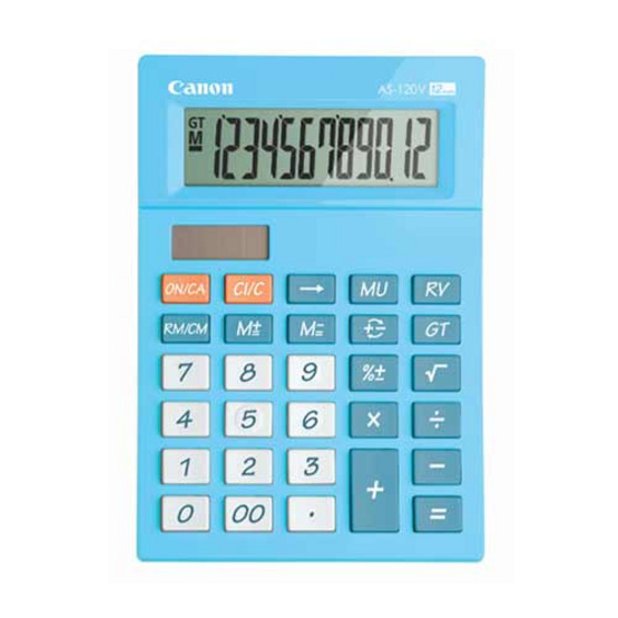 Canon Desktop Calculator รุ่น AS-120V Blue