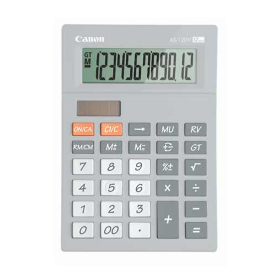 Canon Desktop Calculator รุ่น AS-120V Grey