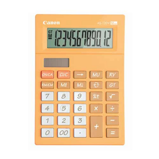 Canon Desktop Calculator รุ่น AS-120V Orange