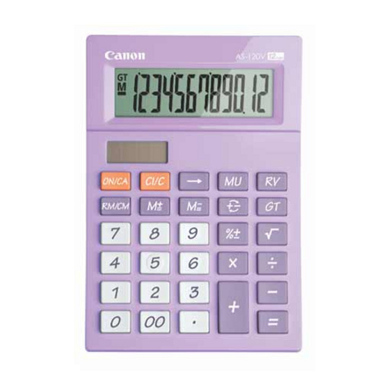 Canon Desktop Calculator รุ่น AS-120V Purple