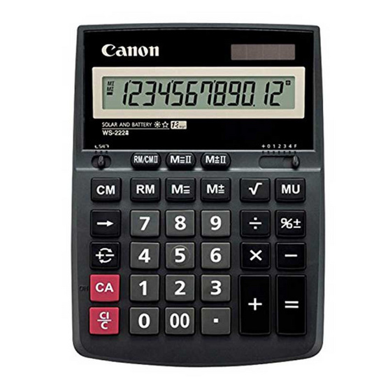 Canon Desktop Calculator รุ่น WS-2222