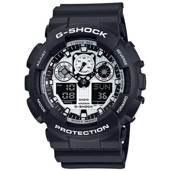 Casio G-Shock Analog-Digital รุ่น GA-100BW-1ADR