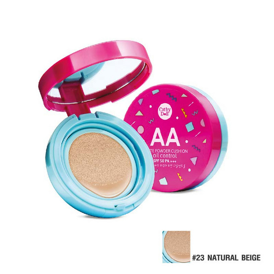 Cathy Doll AA Matte Powder Cushion Oil Control SPF50 PA+++ 15g. #23 Natural Beige